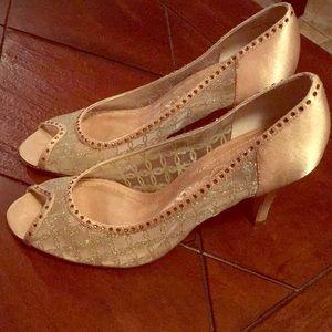 Nina gold sparkle heels